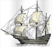 Vintage Sailing Ship Poster