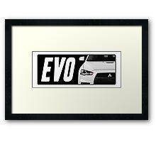 Mitsubishi Evolution (EVO) Logo [Black] Framed Print