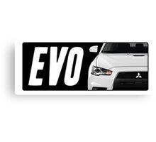 Mitsubishi Evolution (EVO) Logo [Black] Canvas Print