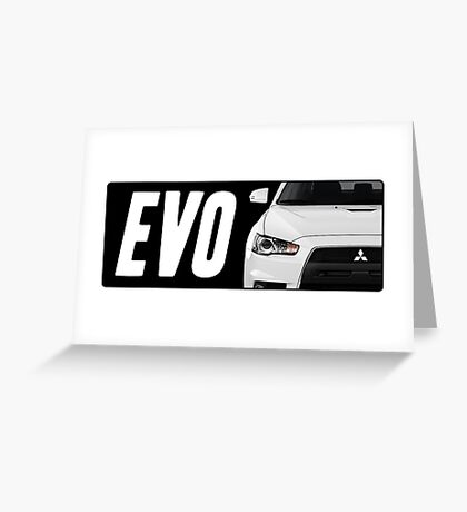 Mitsubishi Evolution (EVO) Logo [Black] Greeting Card