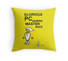 Glorious PC gaming master race Throw Pillow