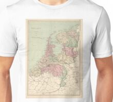 Vintage Map of Holland (1873)  Unisex T-Shirt