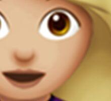 Emoji Hair Flip (Blonde Female) Sticker