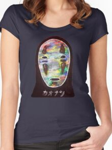 Spirited Away No Face! Kaonashi Women's Fitted Scoop T-Shirt