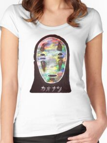 Spirited Away No Face! Kaonashi Women's Fitted Scoop T-Shirt