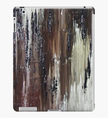 Brown Black Abstract Painting iPad Case/Skin