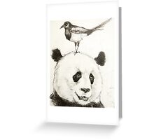 Panda and the Magpie Greeting Card