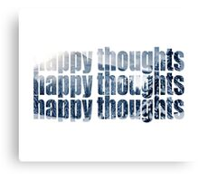 HAPPY THOUGHTS (cold) Canvas Print