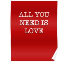 All You Need Is Love - The Beatles Poster