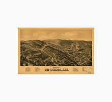 Vintage Pictorial Map of Hot Springs AR (1888) Unisex T-Shirt