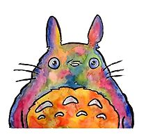 Cute Colorful Totoro! Tshirts + more! by Jonny2may