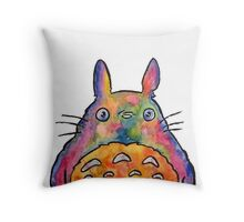 Cute Colorful Totoro! Tshirts + more! Throw Pillow