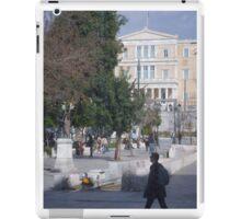 Athens street scene iPad Case/Skin