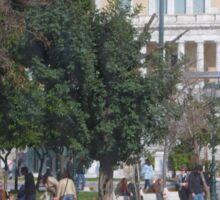 Athens street scene Sticker