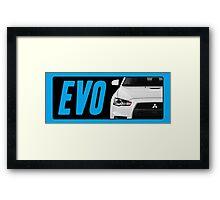 Mitsubishi Evolution (EVO) Logo [Black Transparent] Framed Print