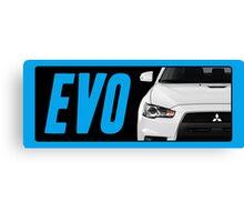 Mitsubishi Evolution (EVO) Logo [Black Transparent] Canvas Print