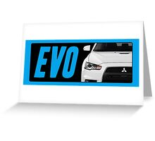 Mitsubishi Evolution (EVO) Logo [Black Transparent] Greeting Card