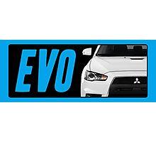 Mitsubishi Evolution (EVO) Logo [Black Transparent] Photographic Print