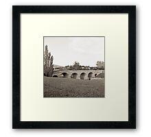 Richmond Bridge—Black and White Framed Print