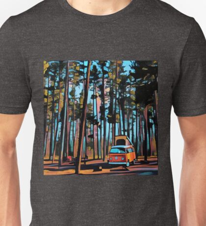 Bay Window Volkswagen Westfalia in Yellowstone  Unisex T-Shirt