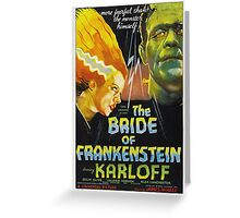 Karloff as Frankenstein Greeting Card