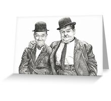 Mr Laurel & Mr Hardy Greeting Card