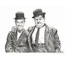 Mr Laurel & Mr Hardy Photographic Print