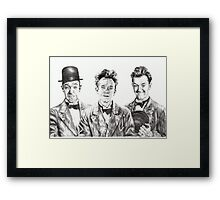 The Funny Faces of Stan Laurel Framed Print
