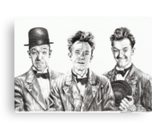 The Funny Faces of Stan Laurel Canvas Print