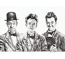 The Funny Faces of Stan Laurel Photographic Print