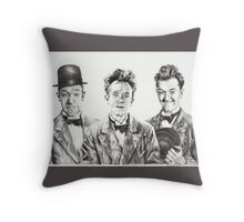 The Funny Faces of Stan Laurel Throw Pillow