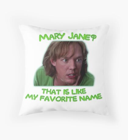 Shaggy and Mary Jane Throw Pillow