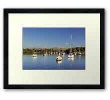 Yachts At Ferry Nab Framed Print