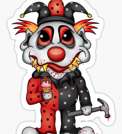 Jester Clown Sticker