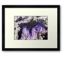 Lilac Black Abstract Painting Framed Print