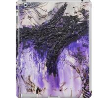 Lilac Black Abstract Painting iPad Case/Skin
