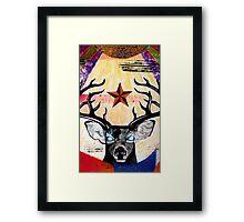Pricilla Aqua Deer Framed Print
