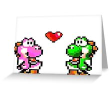 yoshi couple pixel art Greeting Card