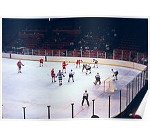 Vintage Ice Hockey Match Poster