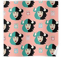 Melanie Martinez Crybaby Fan Art Pattern Poster