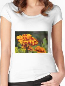 flower in the garden Women's Fitted Scoop T-Shirt