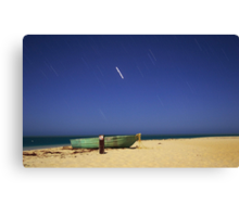 Boat on the beach Canvas Print