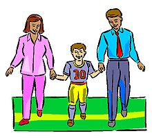 Kids Football Family by kwg2200
