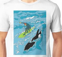 Surfing with the Orcas Unisex T-Shirt