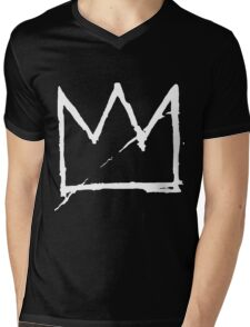 Crown (White) Mens V-Neck T-Shirt