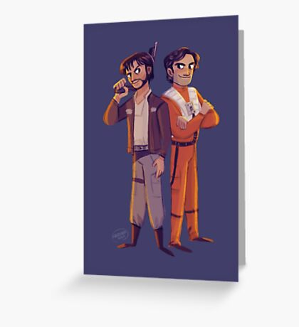Latinos in Space! Greeting Card