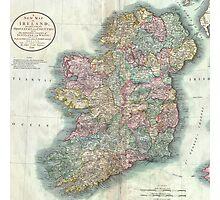 Vintage Map of Ireland (1799)  Photographic Print