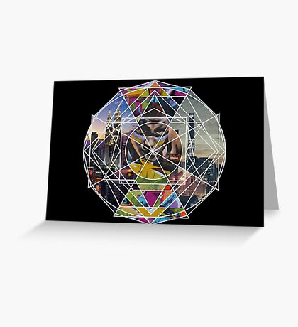 Graffiti mandala  Greeting Card