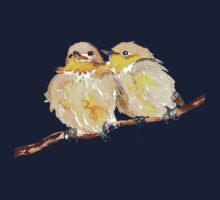 Two little birds sit together Kids Tee