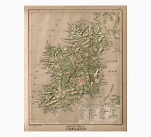 Vintage Physical Map of Ireland (1880) Unisex T-Shirt